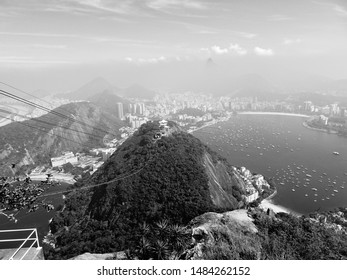 View at Sugarloaf Mountain, Rio de Janeiro.