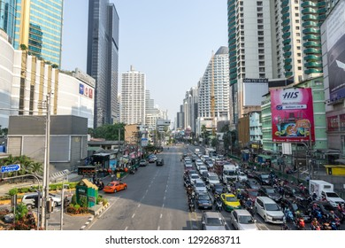 The view of Sukhumvit Terminal 21 nearby the Asok BTS train station. Taken in Bangkok, Thailand. January 17th 2019.
