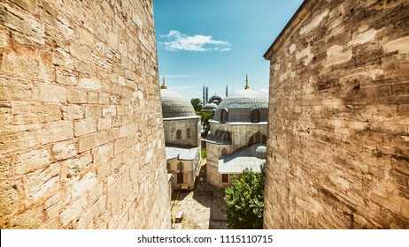 View of Sultan Ahmet Mosque From Hagia Sophia Windows, Istanbul, Turkey