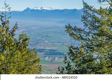 View of Sumas Prairie from Sumas Mountain, Abbotsford, BC