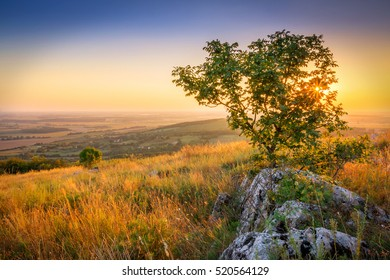 The view from the sumit of small hungarian hill