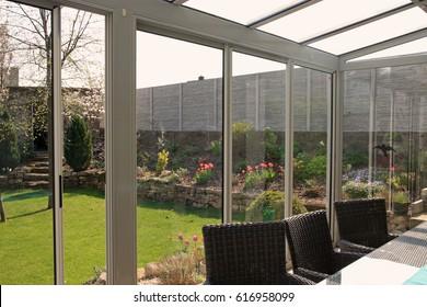 view from summer garden