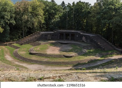 View of the Thingstätte in summer, German outdoor theater. It was built during the third reich, in Heidelberg, Baden-Württemberg, Germany, Europe