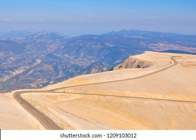 The view from the summit of Mont Ventoux in Provence south of France
