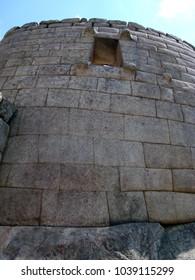 View of Sun Temple, Machu Picchu.