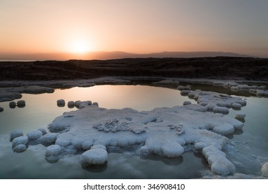 View at sunriseof the Dead Sea