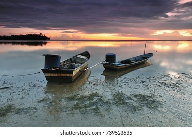 View of Sunrise/Sunset at Fish Village, selective focus