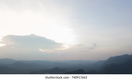View of sunset in the evening.