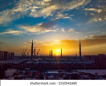 a view of Sunset from my hotel room in Madina Saudia Arabia