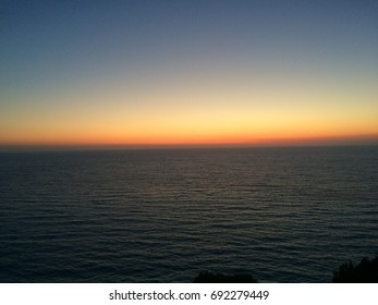 View of sunset over sea