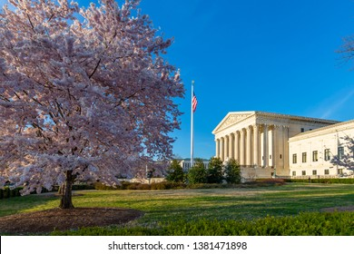 View of Supreme Court of the United States in spring, Washington D.C., United States of America, North America 21-3-2019