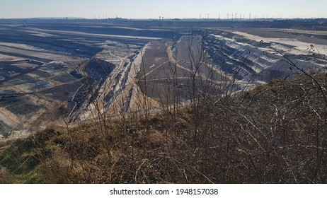 View of surface mine or Open pit