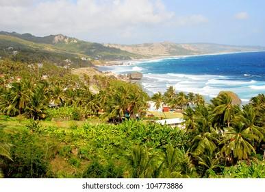 View of the surfer beach  Bathsheba, Barbados, Caribbean