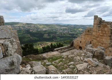 View of the surrounding countryside from Ajloun Castle, Jordan