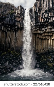 View of Svartifoss, Black Waterfall, Iceland