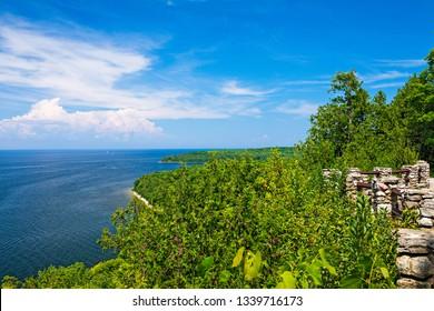 View from Sven's Bluff Scenic Overlook in Peninsula State Park in Door County, Wisconsin