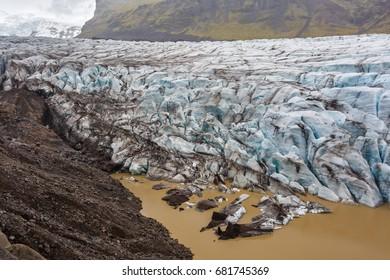 View of Svinafellsjokull glacier in Iceland