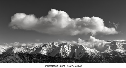 view of the swiss alps