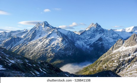 a view of the Swiss Alps near the Sustenpass