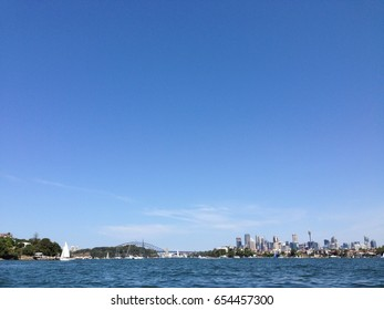 view of Sydney harbour bridge, NSW, Australia
