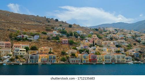 View of Symi Harbour, Simi, Greece