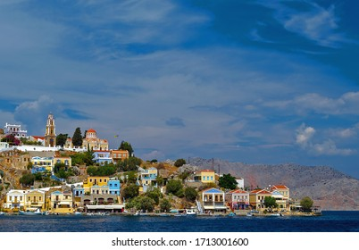 View of Symi Town with the Annunciation Church