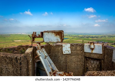 View of Syria from the fortifications of the Israeli army in the Golan Heights of the time of the Six Day War.