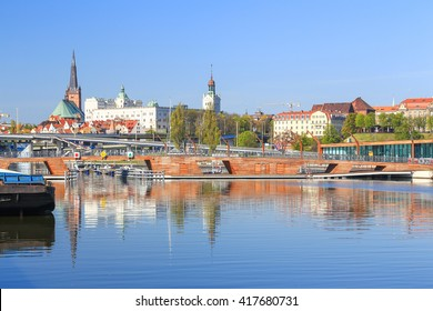 A view of the Szczecin town in Poland