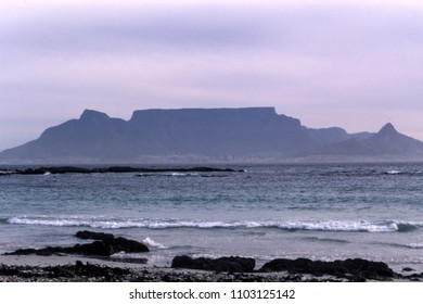 view of the table mountain, cape town, western cape, south africa