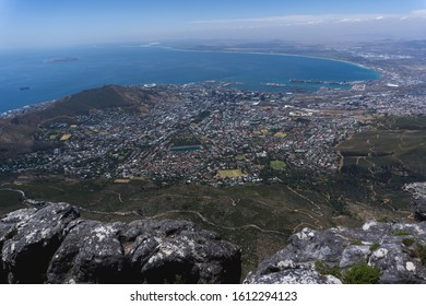 View from Table Mountain to Cape Town