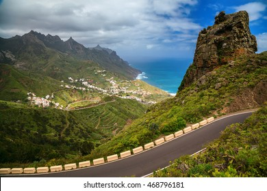 view of the Taganana valley in Anaga mountains, Tenerife, Canary Islands, Spain