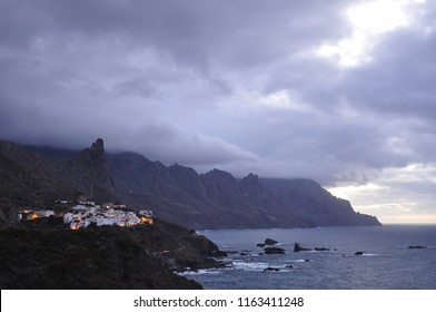 View of Taganana village on a cloudy day, Tenerife, Atlantic Ocean