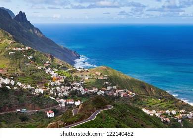 View of Taganana Village, Tenerife, Spain