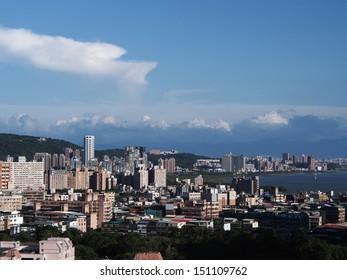 A view of Taipei in sunny