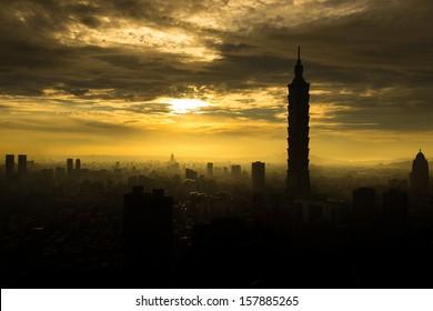 The view of Taipei , Taiwan