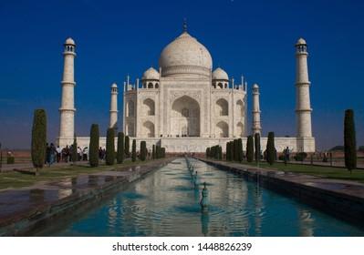 A view of Taj Mahal.