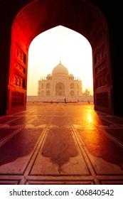 View from Taj Mahal Mosque, Agra, Utter Pradesh, India