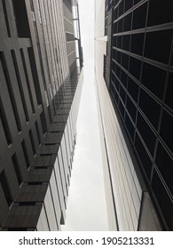 The view taking place between the two buildings
