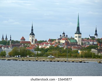 View of Tallinn from the sea, Estonia
