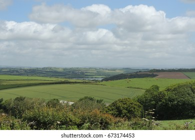 A view of the Tamar valley, from the coast path between Looe in Cornwall and Plymouth in Devon