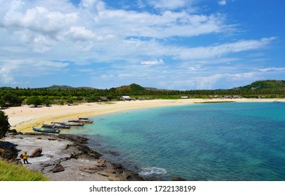 A view of Tanjung Aan Beach in the Kuta District of Lombok island in Indonesia