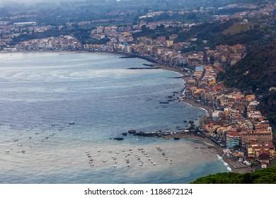 View of Taormina, Sicily, Italy