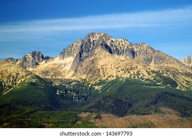 A view of The Tatra Mountains in summer, Slovakia.