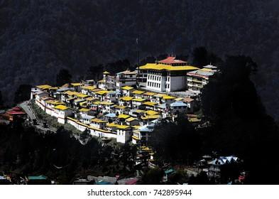A view of 'Tawang' monastery, 'Arunachal Pradesh', India.