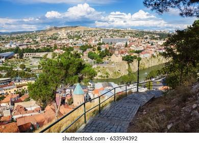 View of Tbilisi, Georgia.