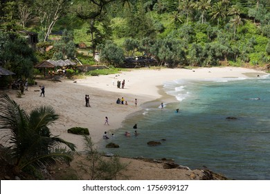 A view of Tebing Beach, Lampuuk, Aceh, Indonesia