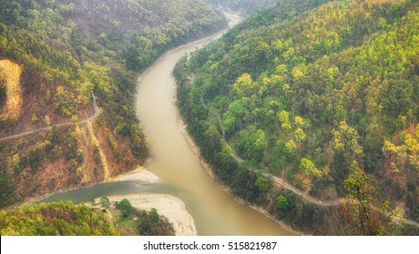 View of Teesta River in West Bengal, India