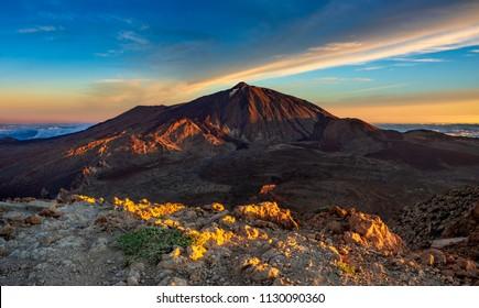 View of the Teide volcano from the Guajara peak, Tenerife