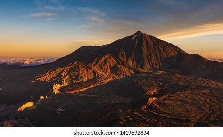 View of the Teide volcano from the Guajara peak, Tenerife,Spain