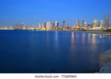 View of Tel Aviv skyline from Jaffa port
